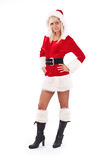 Woman wearing santa clause costume Stock Image
