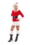 Woman wearing santa clause costume Stock Image