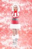 Woman wearing santa clause costume Royalty Free Stock Photos