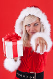 Woman wearing santa clause costume Royalty Free Stock Image