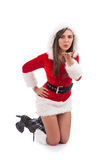 Woman wearing santa clause costume Stock Photography