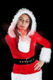 Woman wearing santa clause costume Royalty Free Stock Photography