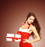 Woman wearing santa clause costume Stock Photo