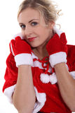 Woman wearing Santa costume Royalty Free Stock Image