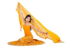 Woman wearing saree Royalty Free Stock Photos