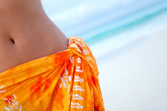 Woman wearing a sarong Royalty Free Stock Photos