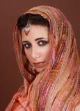 Woman wearing scarf Stock Photo