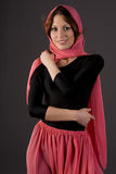 Woman wearing scarf Royalty Free Stock Photography
