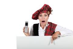 Woman wearing Scottish costume Royalty Free Stock Photos