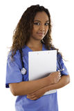 Woman wearing scrubs Royalty Free Stock Photography