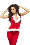 Woman wearing sexy santa claus clothes Stock Photos
