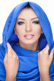 Woman wearing shawl Royalty Free Stock Photo