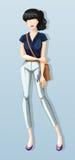 Woman wearing shirt and pants Royalty Free Stock Image