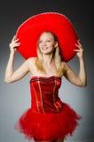 Woman wearing sombrero hat Royalty Free Stock Photo