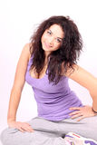Woman wearing sport clothes Royalty Free Stock Photography