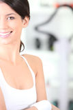 Woman wearing sports bra Royalty Free Stock Images
