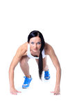 Woman wearing sportswear Royalty Free Stock Photos
