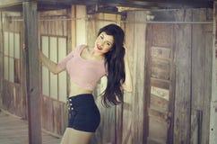 Woman wearing stylish summer clothes Stock Photo