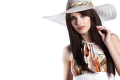 Woman wearing summer dress Royalty Free Stock Photography