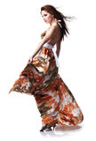 Woman Wearing Summer Dress Royalty Free Stock Photo