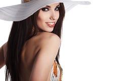 Woman wearing summer dress Stock Photography