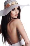Woman wearing summer dress Stock Image