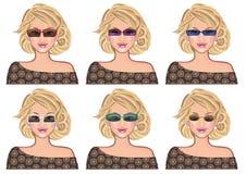 Woman wearing sun glasses Stock Photo
