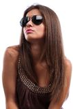 Woman wearing sunglasses Stock Image