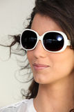 Woman wearing sunglasses Royalty Free Stock Photo