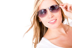 Woman wearing sunglasses Stock Photography