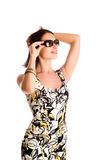 Woman wearing the sunglasses. Stock Images