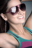Woman Wearing Sunglasses Stock Images