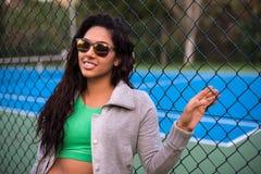 Woman wearing sunglasses Royalty Free Stock Image