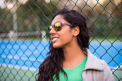 Woman wearing sunglasses Royalty Free Stock Images