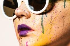 Woman wearing sunglasses Stock Image