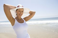 Woman Wearing Sunhat Royalty Free Stock Image