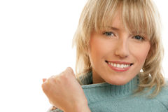 Woman wearing sweater Royalty Free Stock Photos