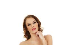 Woman wearing swimming bra. Royalty Free Stock Image