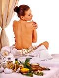 Woman wearing towel Stock Image