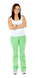 Woman wearing a tracksuit Royalty Free Stock Photography