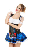 Woman wearing traditional costume. Royalty Free Stock Photography