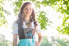 Woman wearing traditional Dirndl Royalty Free Stock Image