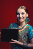 Woman wearing traditional Indian sari Royalty Free Stock Photography