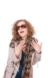 Woman wearing trenchcoat Stock Photos