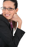 Woman wearing trendy glasses Royalty Free Stock Images
