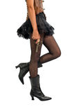 Woman Wearing Tutu and Boots Holding Antique Gun Royalty Free Stock Photo