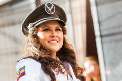 Woman Wearing The Uniform Of Navy Stock Photos