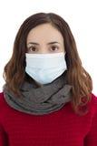 Woman wearing a virus mask Stock Photos