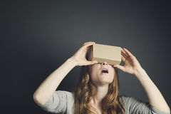 Woman Wearing VR Goggles Royalty Free Stock Photo