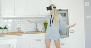 Woman wearing VR headset Royalty Free Stock Photo